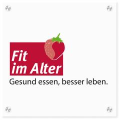 Logo-Schild FIT im Alter-Zertifizierung, Quelle: DGE