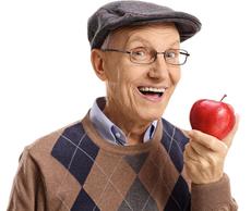 Senior mit Apfel ©123rf.com