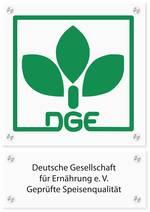 Logo-Schild für Catererzertifizierung, Quelle: DGE